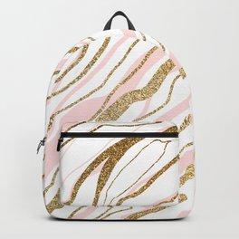 Rose Gold Marble Backpack