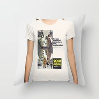 2001 Throw Pillows featuring 2001 by Neon Wildlife