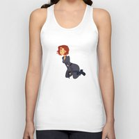 black widow Tank Tops featuring Black Widow by Kelslk