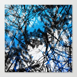 Blue tree pillow one Canvas Print