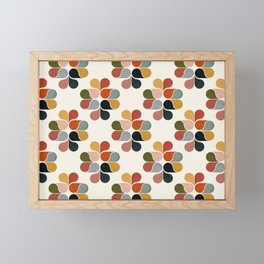 Retro geometry pattern Framed Mini Art Print