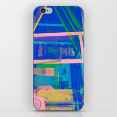 Industrial Abstract Blue 2 iPhone & iPod Skin