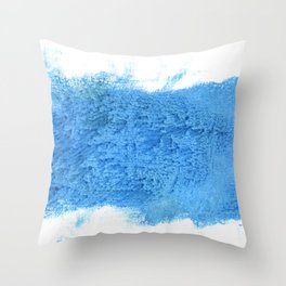 Blue Jeans abstract watercolor Throw Pillow