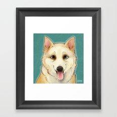 Husky Portrait Framed Art Print