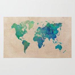 world map 95 green #worldmap #map Rug