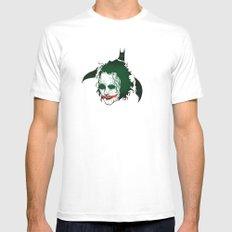 The Dark Knight & Joker Mens Fitted Tee MEDIUM White