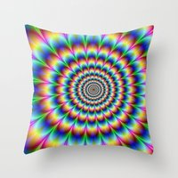 trippy Throw Pillows featuring Trippy by Hipster's Wonderland