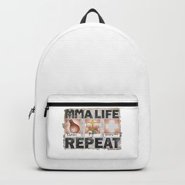 My MMA Life:Train-Fight-Recover-Repeat Vectors T-Shirt & Apparel Backpack