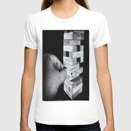 Jenga in Monochrome T-shirt