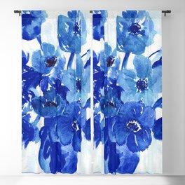 blue stillife Blackout Curtain