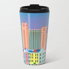 Nassau, Bahamas - Skyline Illustration by Loose Petals Travel Mug