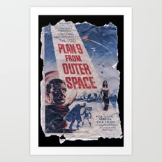 Plan 9 From Outer Space: Pulped Fiction edition Art Print
