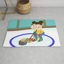 Winter Sports: Curling Rug