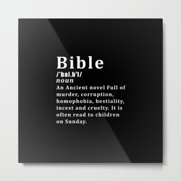 Atheist Bible Definition Metal Print