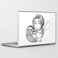 laura palmer Laptop & iPad Skins featuring Laura by eva vasari