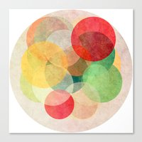 georgiana paraschiv Canvas Prints featuring The Round Ones by Anai Greog