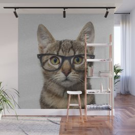 Geek cat Wall Mural