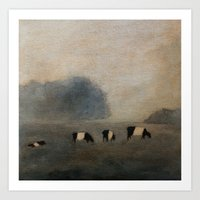 cows Art Prints featuring Cows by Claire Whitehead