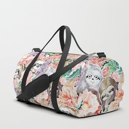 Because Sloths Watercolor Duffle Bag