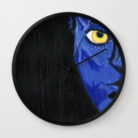 avatar Wall Clocks featuring Avatar by Paxelart