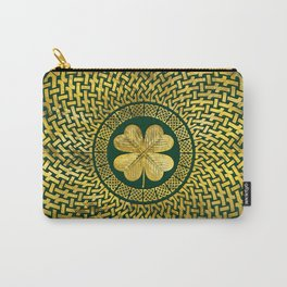 Irish Four-leaf clover with Celtic Knot Carry-All Pouch