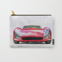 Vintage Supercar Watercolor Carry-All Pouch