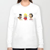 girl power Long Sleeve T-shirts featuring Girl Power by Nate Kelly