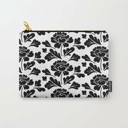 Black flowers pattern Carry-All Pouch