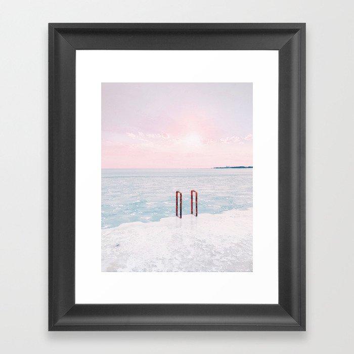 Lake Michigan Sunrise, Chicago Gerahmter Kunstdruck