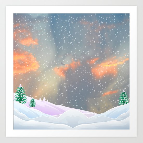 My Snowland   Christmas Spirit Art Print