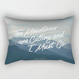 The Mountains Are Calling Rectangular Pillow