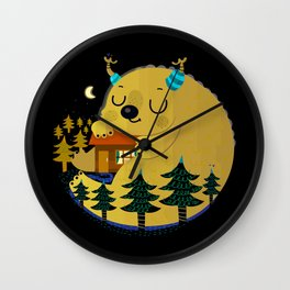 monster and house Wall Clock