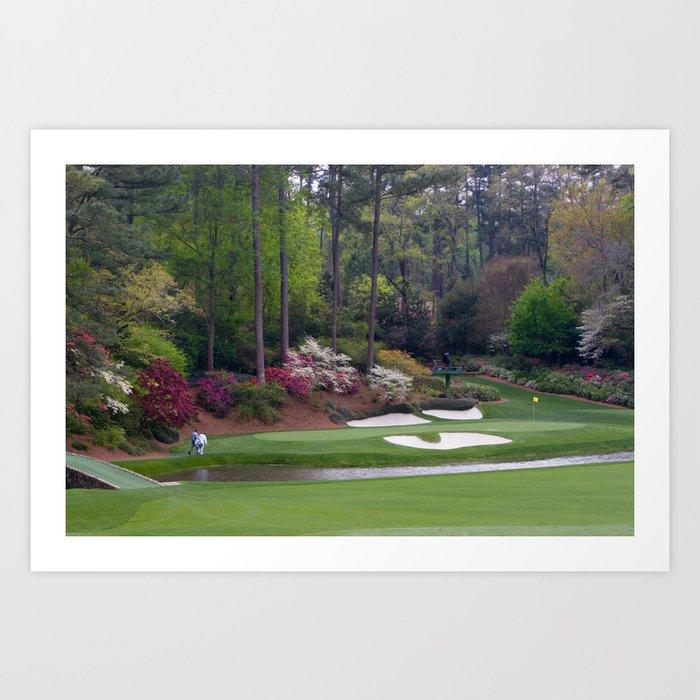 Augusta Amen Corner Golf Kunstdrucke