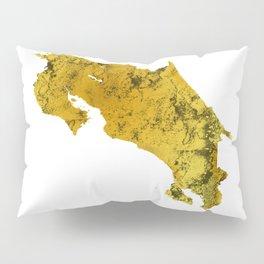 Costa Rica   Pura Vida   Gold Pillow Sham