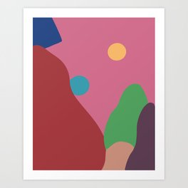 Quilted point of view Art Print