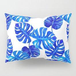 Blue Indigo Palm Leaf Pillow Sham