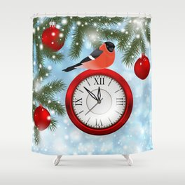 Christmas or New Year decoration Shower Curtain