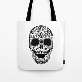 White Mexican Skull Tote Bag