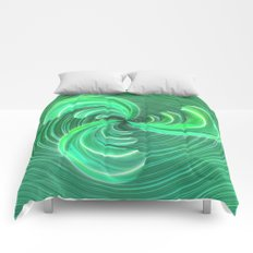 Verde Glass Bow Comforters