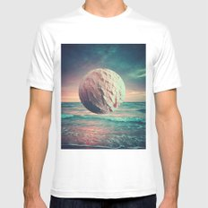 Iced Sun MEDIUM White Mens Fitted Tee