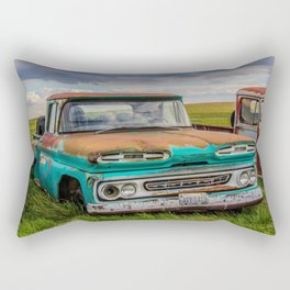 Rusty Car Row 2 Rectangular Pillow