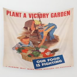 Vintage poster - Victory Garden Wall Tapestry