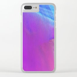 SUMMER BREEZE- Abstract Digital Image Texture Glitch Art Clear iPhone Case