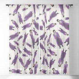 Purple Dove 1 Sheer Curtain