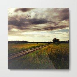 Train Route Metal Print