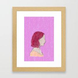 LADY BIRD - Watercolor Framed Art Print
