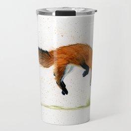 Jumping Jack Fox - animal watercolor painting Travel Mug