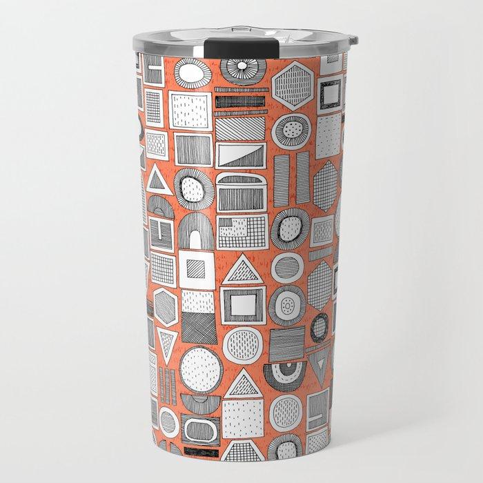frisson memphis bw orange Travel Mug