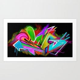 SImr Graffiti Art Print