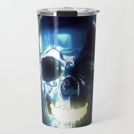 Metallic skull Travel Mug